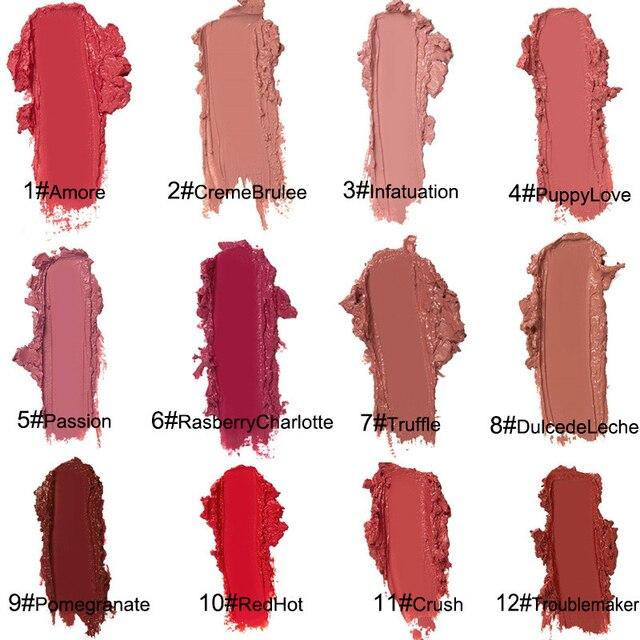 뉴 밀크 크림 모이스트 립스틱 섹시 메이크업 12 색 지속 립 글로스 모이스춰 라이징 리퀴드 립글레이즈 TSLM2