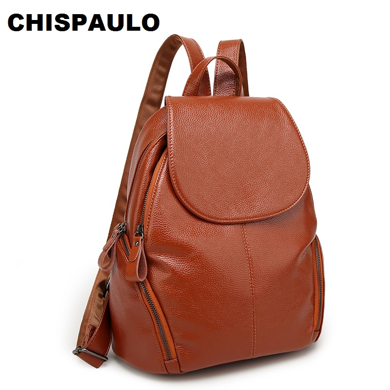 Fashion Genuine Leather Women Bags Cowhide Backpack Kanken School Backpacks For Teenage Girls Fashion Women's Shoulder Bag N051