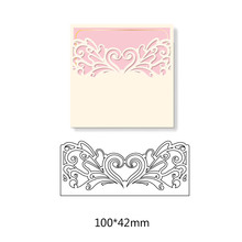 Flower Heart Creating Scrapbook Greeting Cards Cutting Dies Lacework Hollow Frame Metal Stencil Embossing Pattern