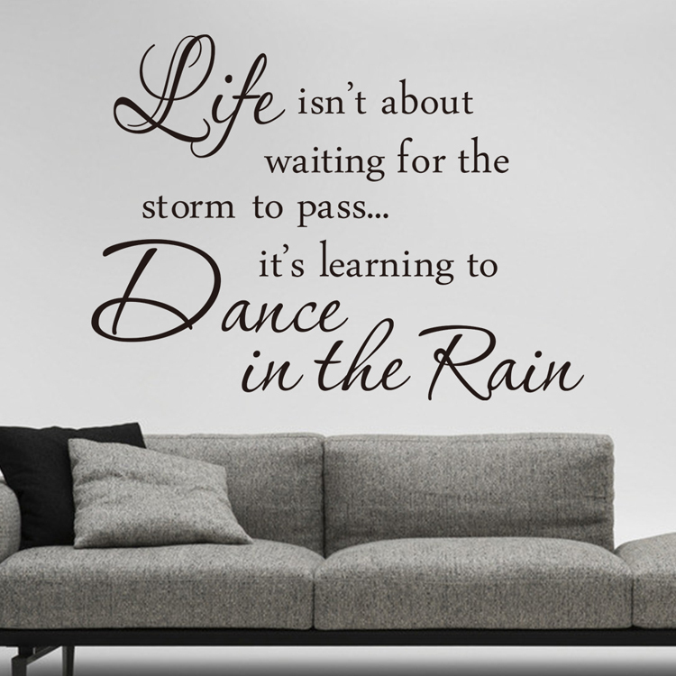 Awesome 2017NEW Proverb Wall Decor Inspirational Wall Decals Vinyl Wall Stickers  Quotes Life Is Learining Dance In The Rain Wall Sticker In Wall Stickers  From Home ... Part 16