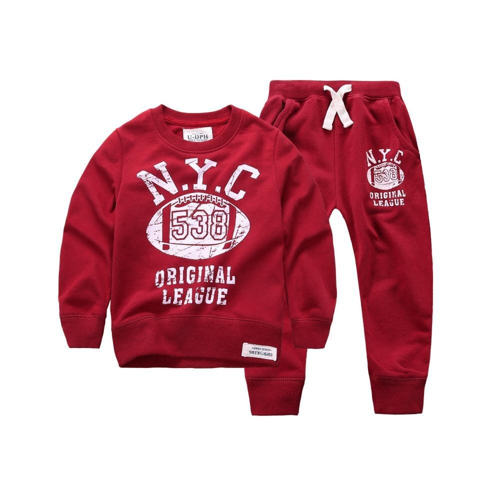 2015 New Winter Autumn Children Hoodies Sweatshirt Set Boys Girl Coat Kids Long Sleeve Casual letter print  Clothing Set 3 color