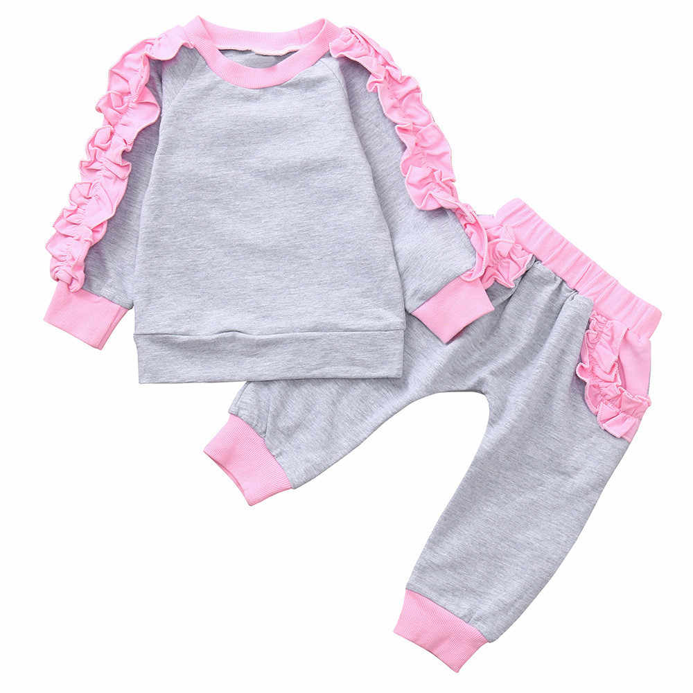 90b62c6d00869 MUQGEW Newborn Clothes Winter Toddler Baby Girl Clothes Long Sleeves  Ruffles Tops+Pants Outfits Clothing Suit Sets roupa de bebe