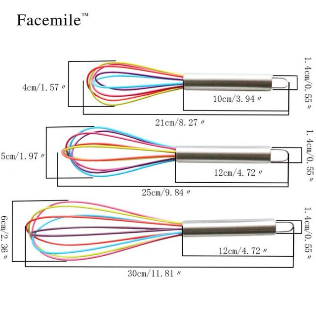 Facemile 1pcs Drink Whisk Mixer, Egg Beater 1