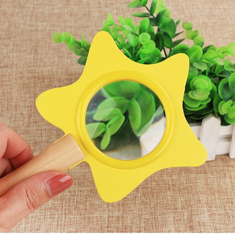 Free shipping Wood HD magnifying viewer children toy Insect Science Experiment kindergarten science teaching Kids wooden toy in Kaleidoscope from Toys Hobbies