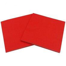 1 упаковка однотонные бумажные салфетки с рисунком(красный