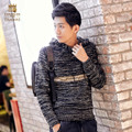 FanZhuan Free Shipping New Male 2016 men's casual fashion slim Hooded sweater slim color embroidery personality 615163 letters