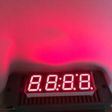 10 шт. 7-сегментный Дисплей afficheur 4 цифры LED часы 7-сегментный Дисплей 0.39 дюймов катод общий 4 цифровые часы segmentos 0.39 красный