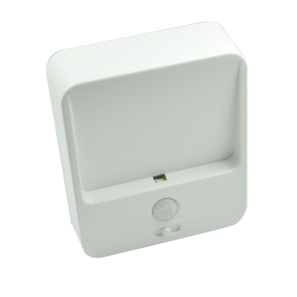 6pcs Night Light Wireless Bedroom Kitchen Motion Sensor Induction Battery Powered Stair Bright LED Energy Saving Compact Closet