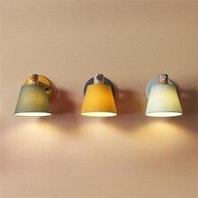 Скандинавские уютные настенные лампы для спальни минималистичный Кабинет Светодиодный настенный светильник столовая коридор прохода декоративные светильники Светильник