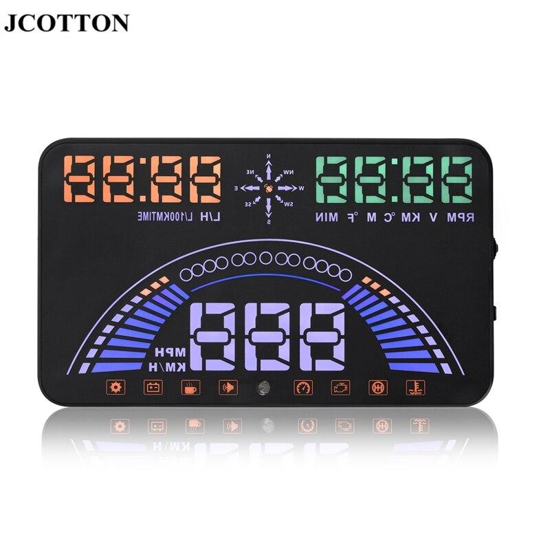 JCOTTON S7 Large Screen 5 8 HUD Head Up Display OBD font b GPS b font