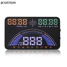 """Jcotton S7 большой Экран 5.8 """"HUD Дисплей БД + GPS навигатор проектор On лобовое стекло Спидометр HUD автосигнализации System"""