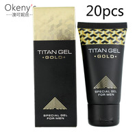 20pcs Original Titan Gel Gold Provocative Penis Enlargement cream Retarder Intime Gel Sex Delay Erection Cream Sex Product