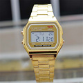 American old Led fashioned lava Steel gold silver Couple Watch digital watch square military men and women dress sports watches
