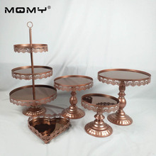 mirror cake stand set silver & gold white red brown color display sweet decoration