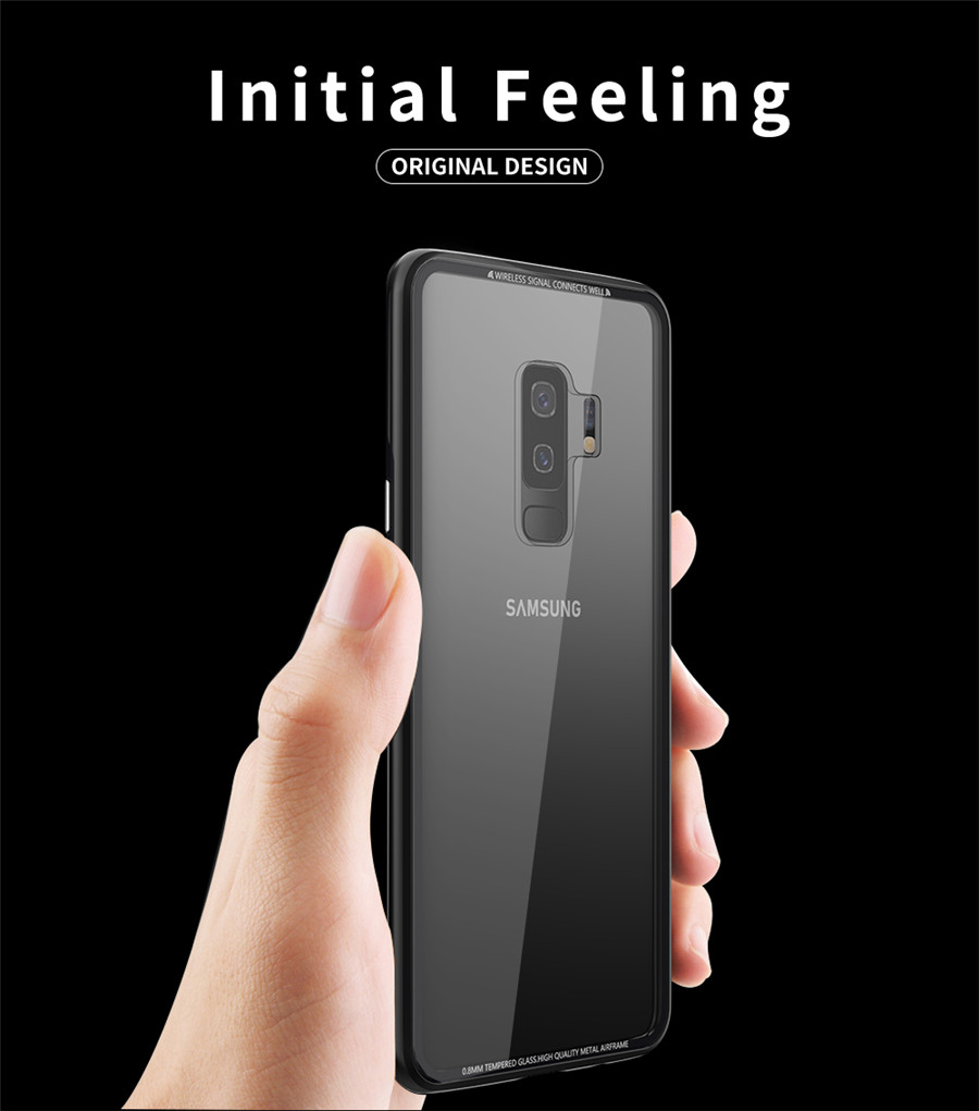 Luxury Aluminum Phone Cases For Samsung galaxy s9 Original R-just Hardness Tempered Glass Cover Case S9 Plus S9+ Accessories (2)