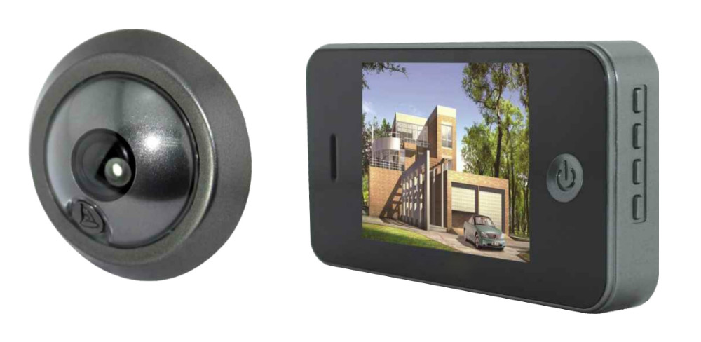 3.5 Inch Lower Power Comsunption Video Door Phone Wired Peephole Viewer