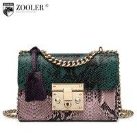 ZOOLER Fashion Chains High Quality Genuine Leather Bags Handbags Women Famous Brand Ladies Cowhide Messenger Shoulder