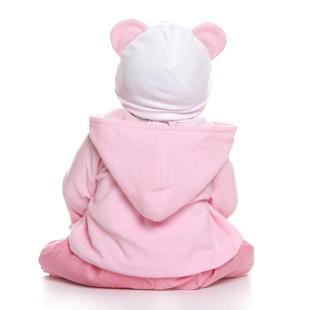 NPK 56 CENTIMETRI reborn bambino del bambino della ragazza bambola full body molle del silicone 0-3M dimensione reale del bambino bebe bambola reborn giocattolo del Bagno Anatomicamente Corretta