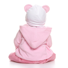 NPK 56CM reborn toddler girl doll full body soft silicone 0-3M real baby size  bebe doll reborn  Bath toy Anatomically Correct