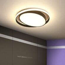 ネオ煌きホワイト/ブラックカラー現代の led シーリングライトリビングルームホームラウンド天井ランプ送料無料