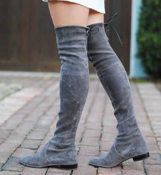 Black Suede Thigh High Flat Boots Promotion-Shop for Promotional ...