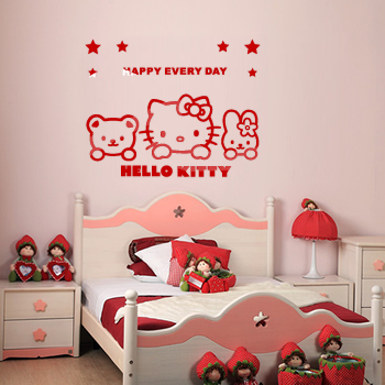 home decorations high quality acrylic 3d wall stickers cartoon cute