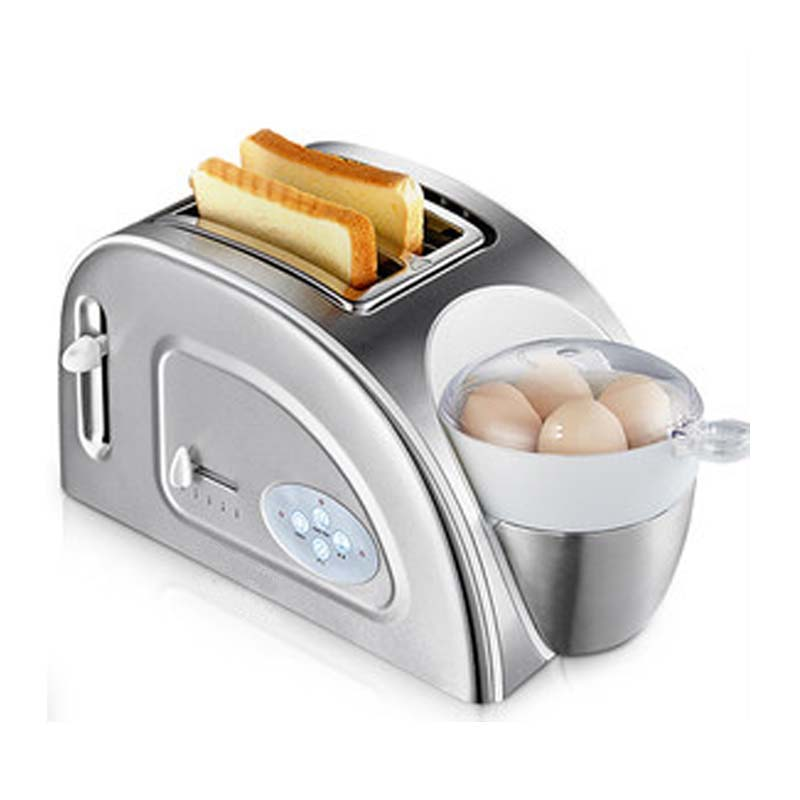 CUKYI Toaster Household automatic multi-function breakfast machine egg boiler Stainless steel Electric baking pan heating oven cukyi toaster italian technology breakfast machine household automatic single double sides baking stainless steel liner retro