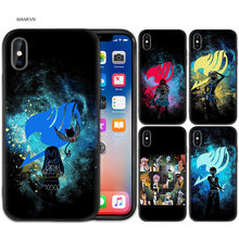 Anime Manga Fairy Tail Zwarte Rubber TPU Silicone Case Cover voor iPhone X XS XR XS 11 11Pro Max 7 8 6 6S 5 5S 5C SE Plus Case(China)