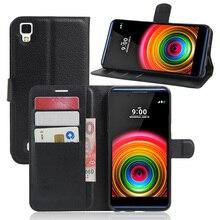 Для LG X Power K220DS Case Флип Бумажник PU Кожаный Телефон Случаях для LG X power K210 K220 LS755 Покрова Fundas Владельца Стенда Телефон мешок