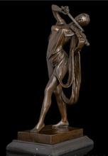 "18 ""Abstrakte Kunst Skulptur Kupfer Bronze Marmor Violine Violinist Statue Figurine"