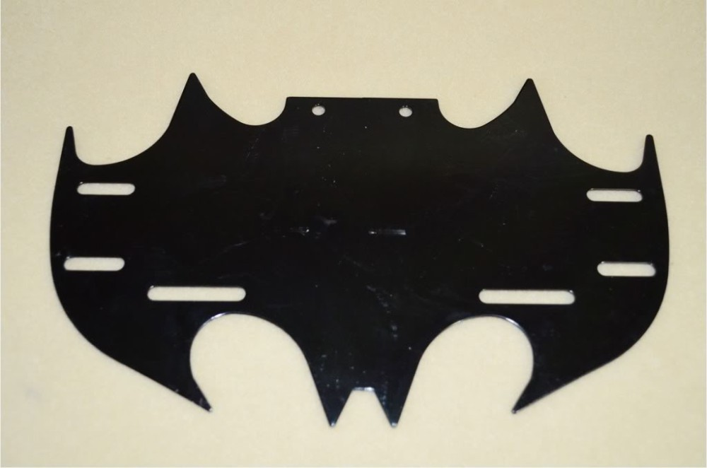 new black universal chrome carbon motorcycle license plate frame ml bat batman drop shipping in decals stickers from automobiles motorcycles on