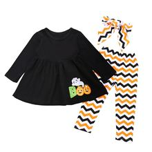 Baby Kids  Sets Halloween Costumes Long-sleeved T-shirt +Skirt 2PC Girls Clothes Outfits