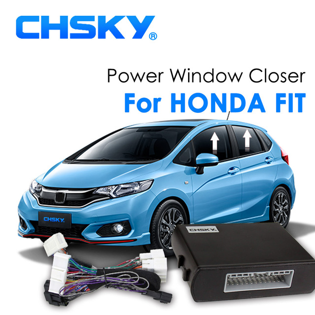 Chsky Auto Car Window Roll Up Closer Fit For Honda Jazz Alarm