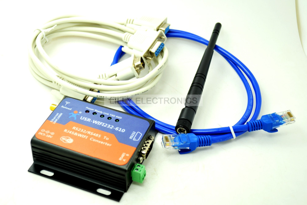 ФОТО USR-WIFI232-610  Wifi 802.11 B/G/N And Ethernet Converter   to RS232/RS485