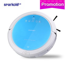 Sparkole Robotic Vacuum Cleaner Self-Charging and Side Brush with Remote Control and Advanced Edge-detection & HEPA filter