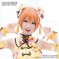 Любовь в прямом эфире! Hoshizora рин краткое оранжевый прямые волосы косплей