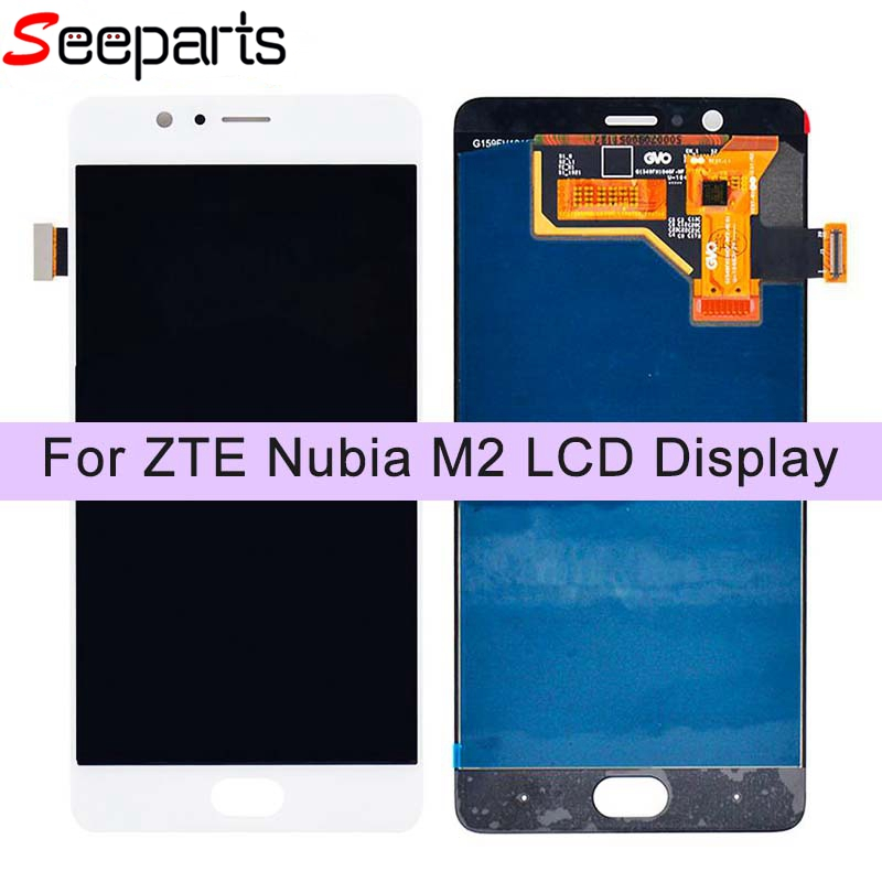 """For 5.5"""" ZTE nubia M2 NX551J LCD Display Touch Screen Digitizer Assembly Replacement Parts Nubia M2 LCD Screen Black/White"""