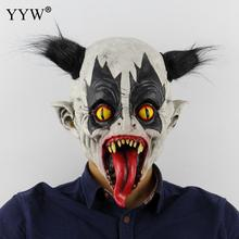 Scary Party Maske Latex Mask Funny Long Tongue Clown Cosplay Masks Christmas Halloween Masker Decoration Horror Masquerade Props