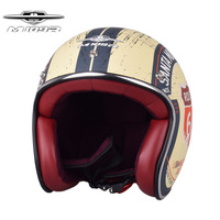 Retro Chopper Route 66 Motorcycle Helmet Harley 3/4 Open Face Vintage Helmet Moto Casque Casco Motocicleta Capacete Helmets