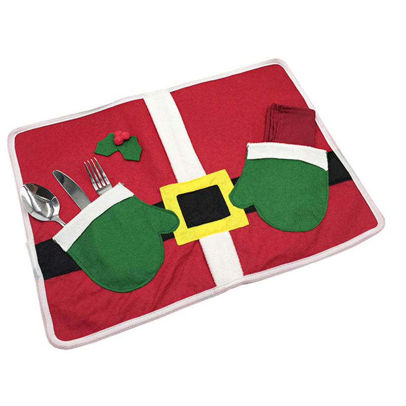 Santa Claus with a pair of hand cushions for Christmas decorations