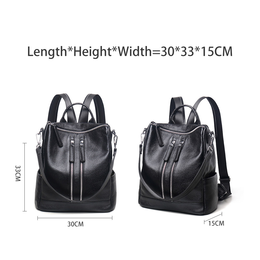 Zency Famous Brand New Style Women Genuine Leather Backpack Fashion Simple Travel Bags Female Knapsack Schoolbags Preppy