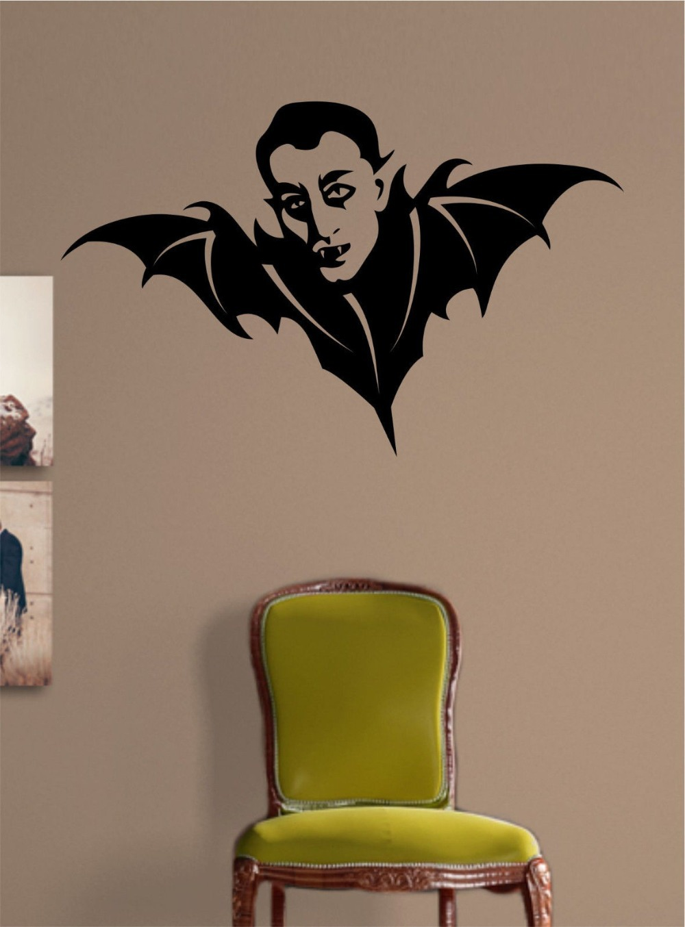 2015 halloween vinyl wall decal vampire bat mural art wall for Decal wall art mural