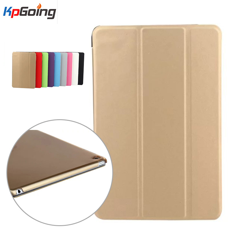 Elastic Skin Three Fold for Ipad Air 2 Case Funda for Ipad Air 2 Luxury PU Leather Cover Flip Business Case for Apple Ipad Air 2