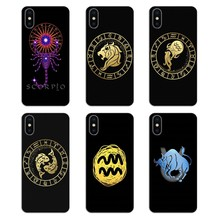 Zodiac Signs design For Huawei G7 G8 P7 P8 P9 Lite Honor 4C 5X 5C 6X Mate 7 8 9 Y3 Y5 Y6 II 2 Pro 2017 Silicone Phone Case Cover(China)