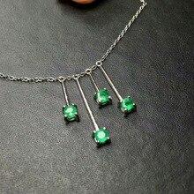 daaadc3123ad SHILOVEM 925 de plata esterlina Esmeralda colgantes de joyería clásico y  fino de enviar collar regalo