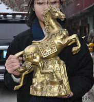 Свадебные украшения Китай Фэншуй латунь Богатство Yuanbao успех зодиака война Тан лошадь животных статуя