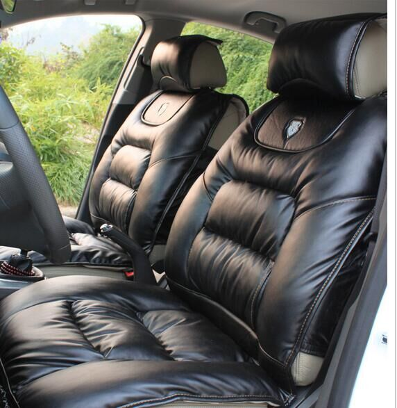 High Quality Leather Car Seat Protector Mat Auto Front Seat Cushion Single Fit Most  Vehicles Seat Covers,