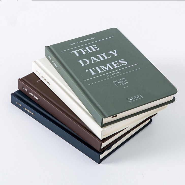 Daily Times Business Journal Study Diary Any Year Planner Hard Cover Notebook Stationery Gift hard times