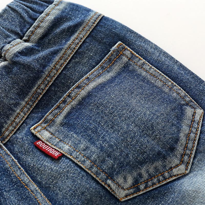 Hole Jeans For Boys Elastic Waist Kids Denim Trousers Kids Cowboy Harem Pants Solid Boy Jeans 2017 Spring Children Jeans 2-6 Y  (13)
