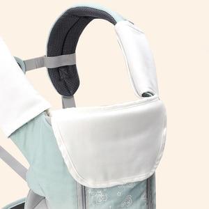 Image 3 - Honeylulu ארגונומי מנשא עם תיק קלע תינוקות ארבע עונות תינוק קנגורו Windproof כובע Ergoryukzak Hipseat